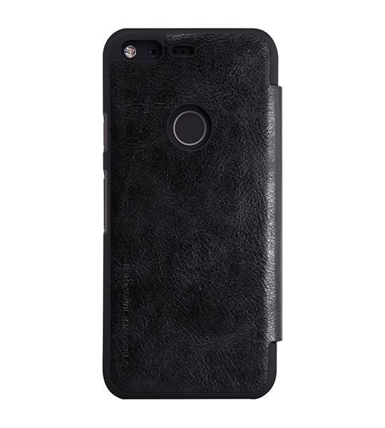 Кожаный чехол (книжка) Nillkin Qin Series для Google Pixel Черный  - купить со скидкой
