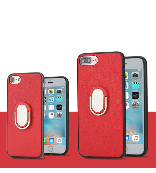 Купить TPU+PC чехол Rock Ring Holder Case M1 Series для Apple iPhone 7 plus (5.5 ) Красный / Red