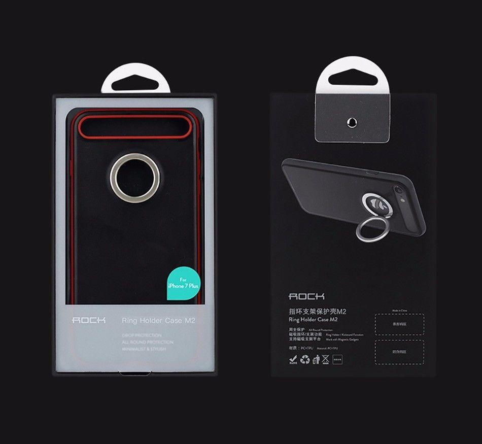 TPU+PC чехол Rock Ring Holder Case M2 Series для Apple iPhone 7 (4.7 ) Красный / Red  - купить со скидкой