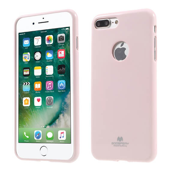 Купить TPU чехол Mercury Jelly Color series для Apple iPhone 7 plus (5.5 ) Розовый