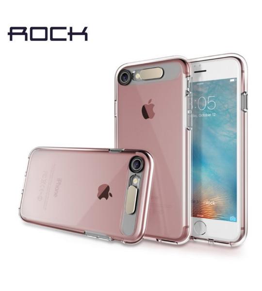 Купить Светящийся TPU чехол ROCK Tube Series для Apple iPhone 7 (4.7 ) Розовый / Transparent pink