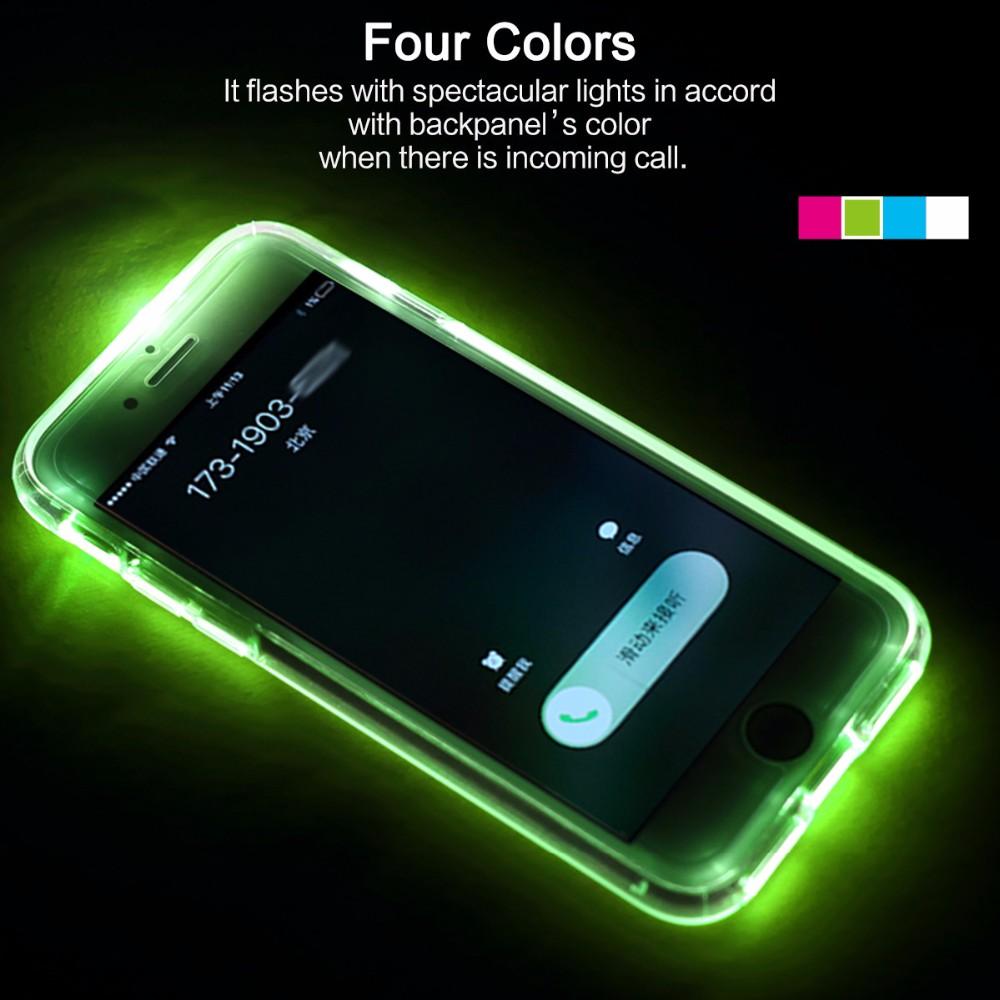Купить Светящийся TPU чехол ROCK Tube Series для Apple iPhone 7 (4.7 ) Зеленый / Transparent Green