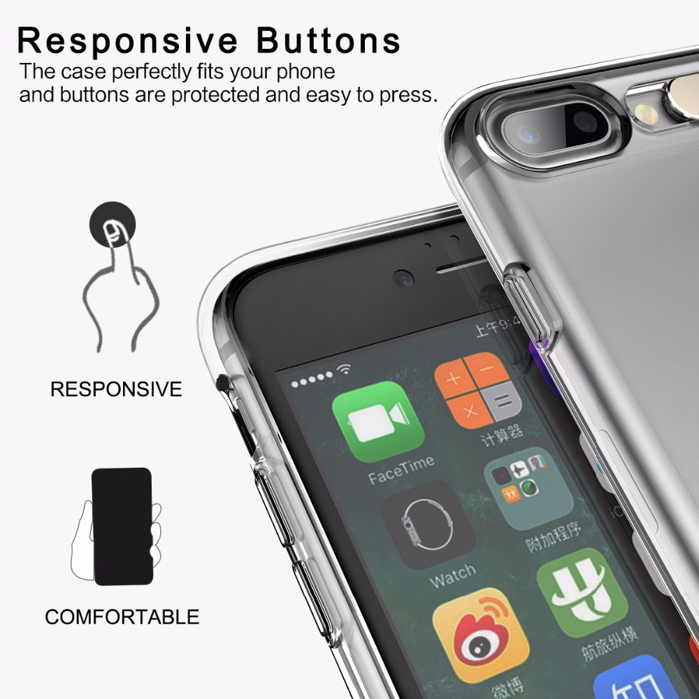 Купить Светящийся TPU чехол ROCK Tube Series для Apple iPhone 7 (4.7 ) Бесцветный / Transparent