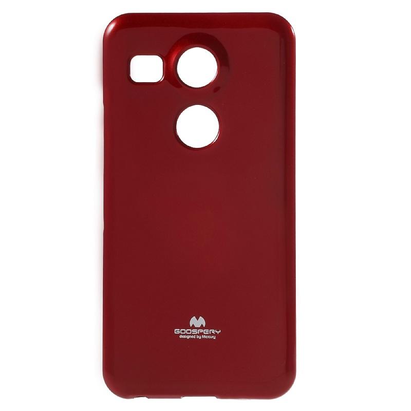 TPU чехол Mercury Jelly Color series для LG Google Nexus 5x Красный  - купить со скидкой