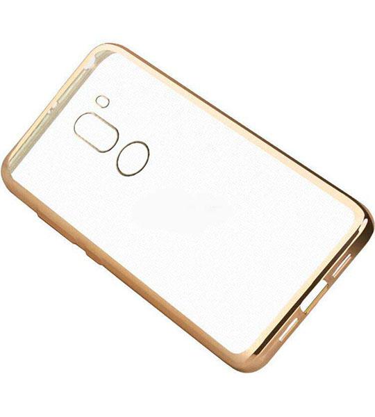Купить Прозрачный силиконовый чехол для Xiaomi Mi 5s Plus с глянцевой окантовкой Золотой, epik