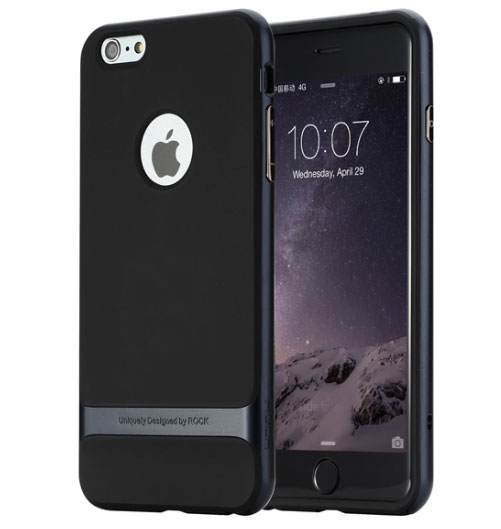 Купить TPU+PC чехол Rock Royce Series для Apple iPhone 7 (4.7 ) Черный / Синий
