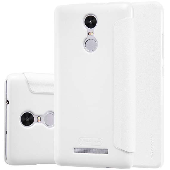 Купить Кожаный чехол (книжка) Nillkin Sparkle Series для Xiaomi Redmi Note 3 / Redmi Note 3 Pro Белый