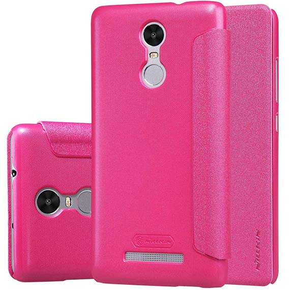 Купить Кожаный чехол (книжка) Nillkin Sparkle Series для Xiaomi Redmi Note 3 / Redmi Note 3 Pro Розовый