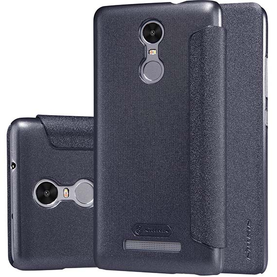 Купить Кожаный чехол (книжка) Nillkin Sparkle Series для Xiaomi Redmi Note 3 / Redmi Note 3 Pro Черный
