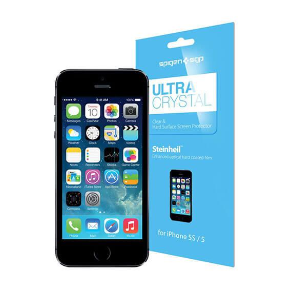Купить Защитная пленка SGP Crystal CR (3 на экран + 1 на заднюю панель) для Apple iPhone 5/5S/SE Crystal / 041FL20165