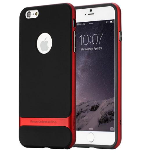 Купить TPU+PC чехол Rock Royce Series для Apple iPhone 7 (4.7 ) Черный / Красный