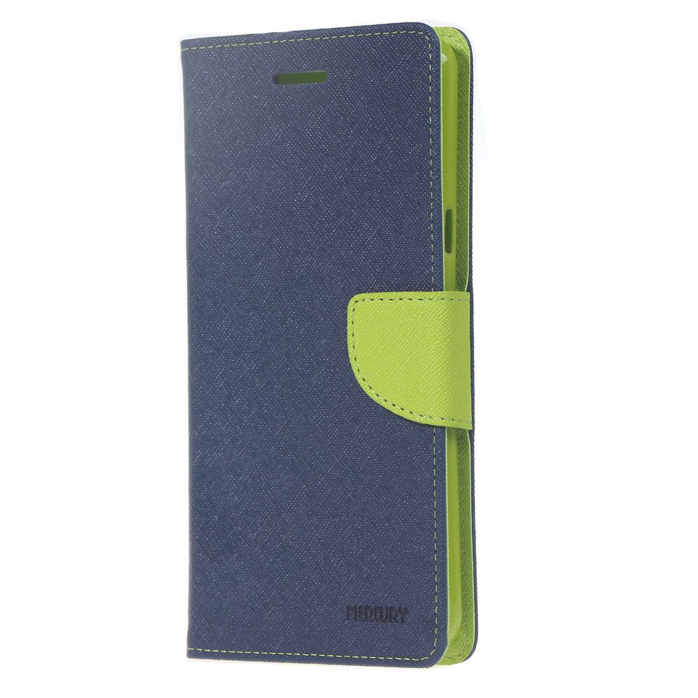 Купить Чехол (книжка) Mercury Fancy Diary series для Xiaomi Redmi Note 3 / Redmi Note 3 Pro Синий / Лайм