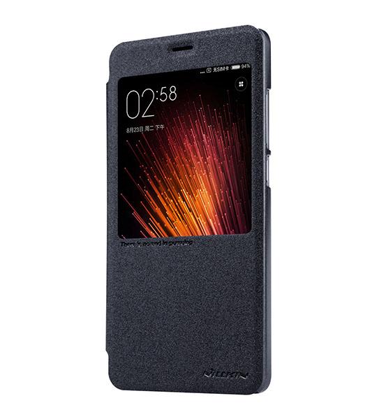 Купить Кожаный чехол (книжка) Nillkin Sparkle Series для Xiaomi Redmi Pro Черный