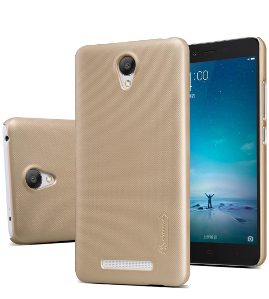 Купить Чехол Nillkin Matte для Xiaomi Redmi Note 2 / Redmi Note 2 Prime (+ пленка) Золотой