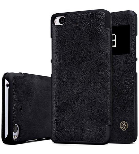Кожаный чехол (книжка) Nillkin Qin Series для Xiaomi Mi 5s Черный  - купить со скидкой