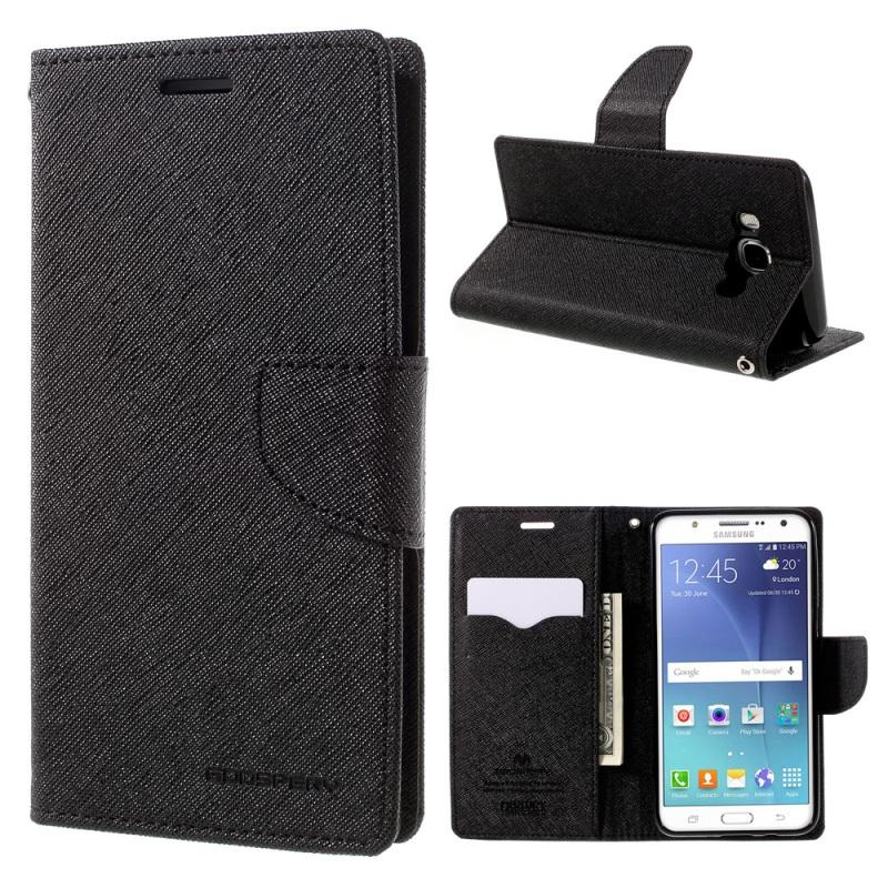 Купить Чехол (книжка) Mercury Fancy Diary series для Samsung J510F Galaxy J5 (2016) Черный / Черный