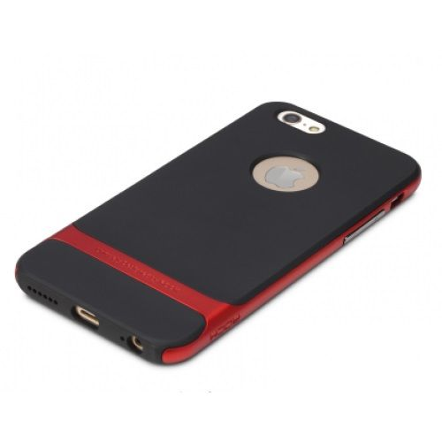 Купить TPU+PC чехол Rock Royce Series для Apple iPhone 6/6s (4.7 ) Черный / Красный