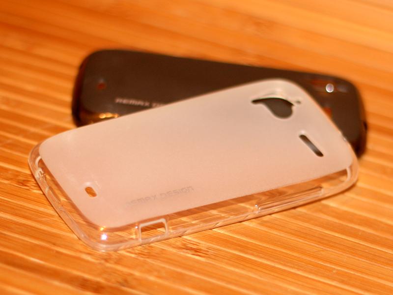 TPU чехол Remax Pudding для HTC Sensation/HTC Sensation XE (+ пленка) Белый