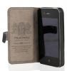 Кожаный чехол Nuoku Chic (книжка) для Apple iPhone 4/4S (+ пленка)