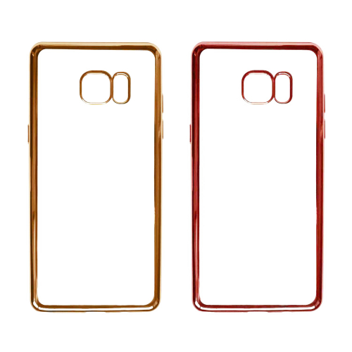 Прозрачный силиконовый чехол для Samsung N930F Galaxy Note 7 Duos с глянцевой окантовкой