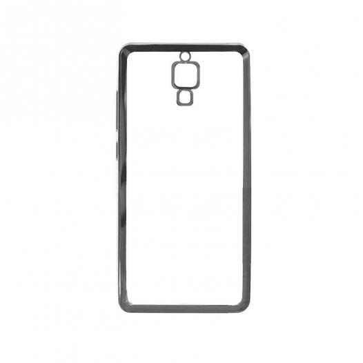 Прозрачный силиконовый чехол для Xiaomi Redmi Note с глянцевой окантовкой