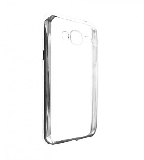 Прозрачный силиконовый чехол для Samsung J320F Galaxy J3 (2016) с глянцевой окантовкой
