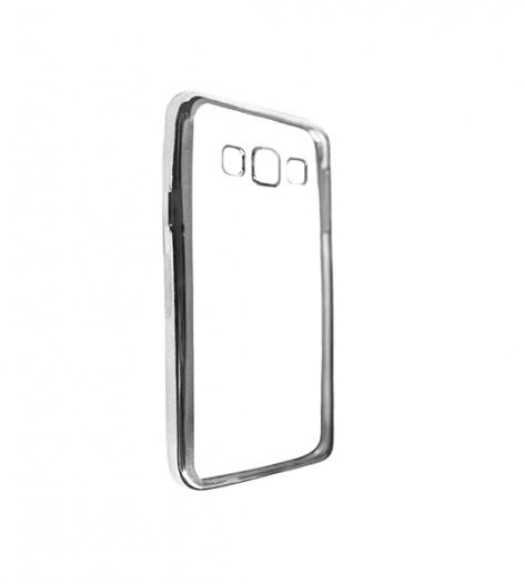 Прозрачный силиконовый чехол для Samsung A300H / A300F Galaxy A3 с глянцевой окантовкой