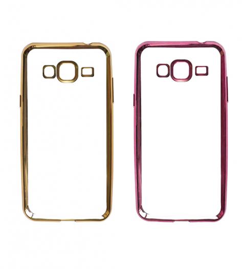 Прозрачный силиконовый чехол для Samsung J310 Galaxy J3 Pro с глянцевой окантовкой