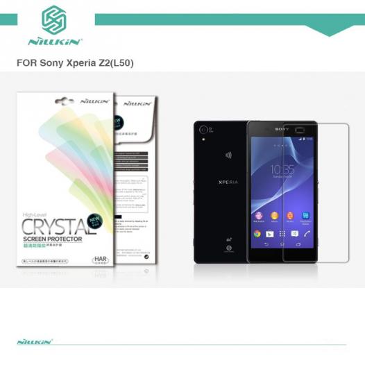 Защитная пленка Nillkin Crystal для Sony Xperia Z2 (L50)