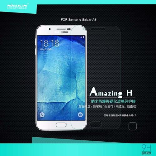 Защитное стекло Nillkin Anti-Explosion Glass (H) для Samsung Galaxy A8+пленка на заднюю панель