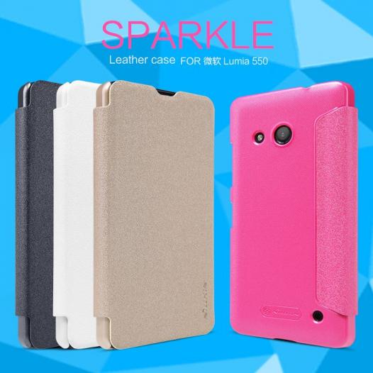 Кожаный чехол (книжка) Nillkin Sparkle Microsoft Lumia 550