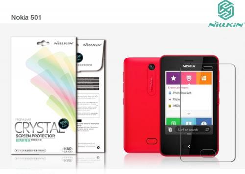 Защитная пленка Nillkin Crystal для Nokia Asha 501 (Анти-отпечатки)