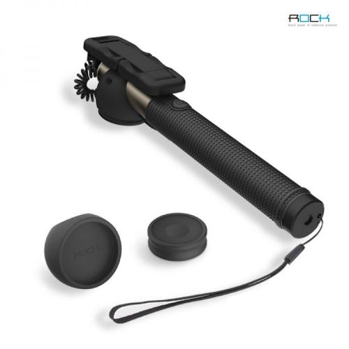 Телескопический монопод ROCK для селфи (Bluetooth+кабель 3,5)