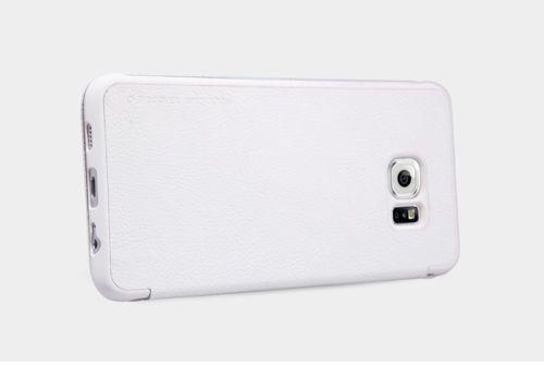 Кожаный чехол (книжка) Nillkin Qin Series для Samsung Galaxy S6 Edge Plus
