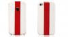 Кожаный чехол Nuoku (флип с полосой) для Apple iPhone 4/4S (+ пленка)