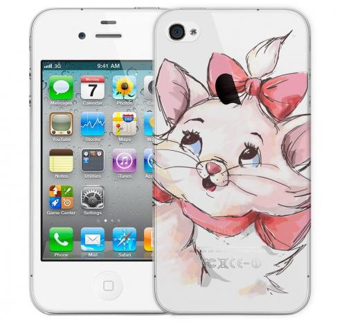 Чехол «Кошечка» для Apple iPhone 4/4s