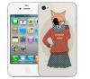 Чехол «Nerdy girl» для Apple iPhone 4/4s