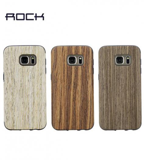 Деревянная накладка Rock Origin Series (Grained) для Samsung G935F Galaxy S7 Edge