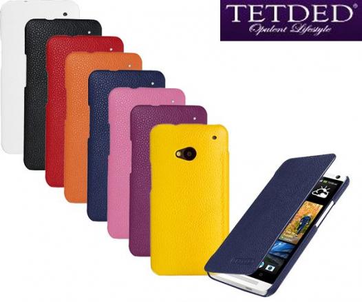 Кожаный чехол (книжка) TETDED для HTC One DUAL/802d
