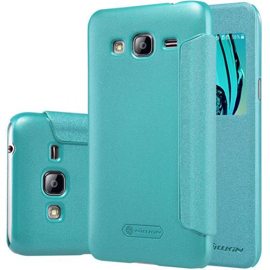 Кожаный чехол (книжка) Nillkin Sparkle Series для Samsung J710F Galaxy J7 (2016)