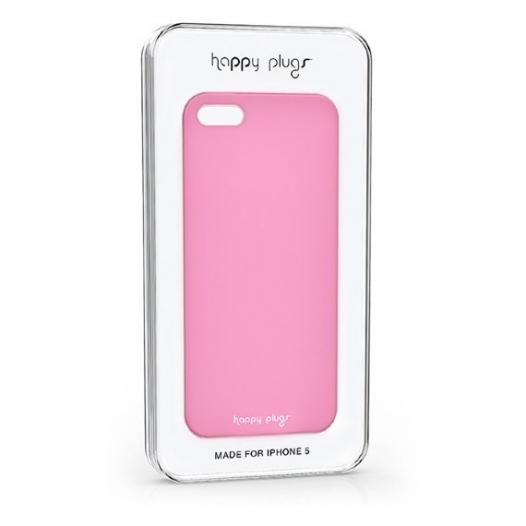 Ультратонкая пластиковая накладка Happy Plugs 0.4 mm для Apple iPhone 5/5S/SE (+ пленка)