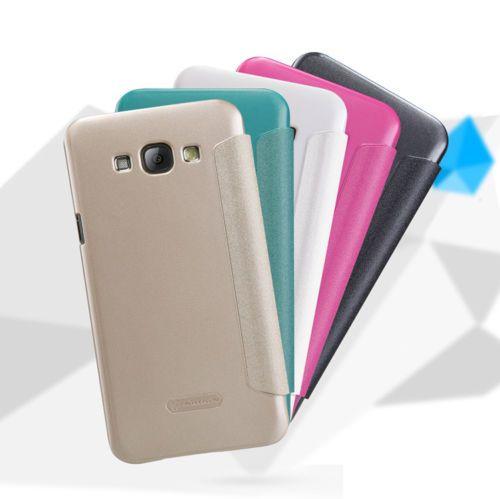 Кожаный чехол (книжка) Nillkin Sparkle Series для Samsung Galaxy A8