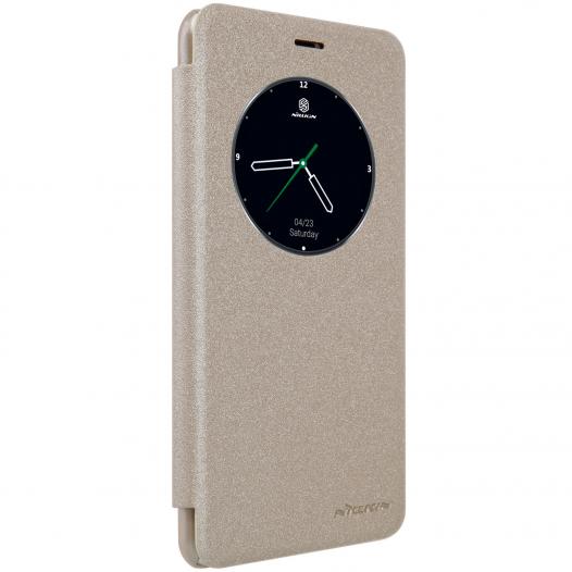 Кожаный чехол (книжка) Nillkin Sparkle Series для Meizu M3e