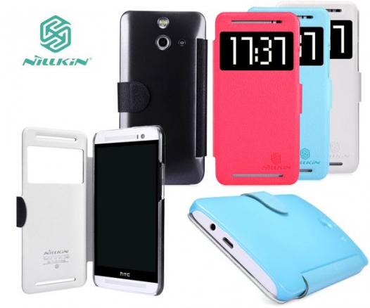 Кожаный чехол (книжка) Nillkin Fresh Series для HTC One / E8