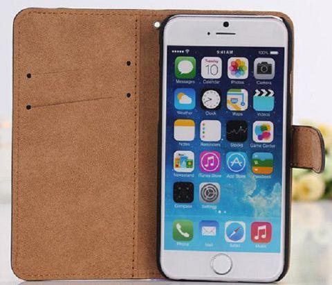 Кожаный чехол (книжка) Retro Style для Apple iPhone 6/6s (4.7