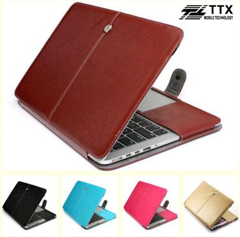 Кожаный чехол-книжка TTX для Apple MacBook Retina 13
