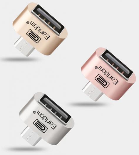 Переходник с microUSB на USB OTG (с телефона/планшета на флешку) Earldom
