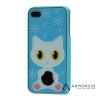 Пластиковая накладка Белоснежный кот для iPhone 4/4S