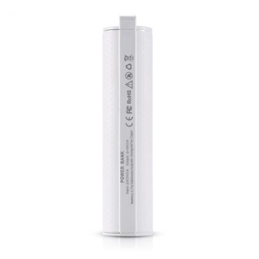 Дополнительный внешний аккумулятор Cager (Пластиковый Цилиндр) (2600mAh)
