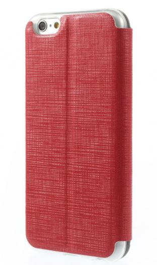 Кожаный чехол-книжка Grid Pattern для Apple iPhone 6/6s (4.7